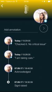 App mit Rückmeldung