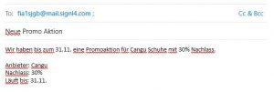 Email Versand