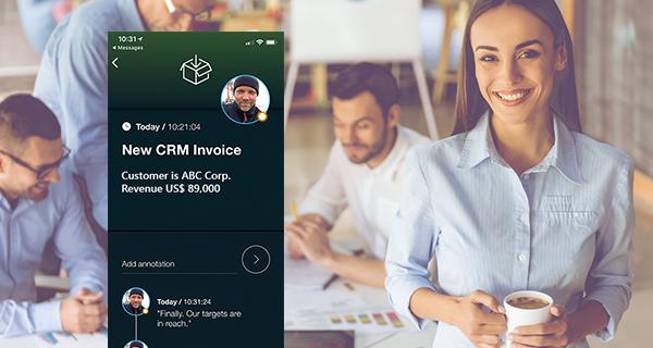 Proaktive mobile Benachrichtigungen aus Microsoft Dynamics 365 CRM
