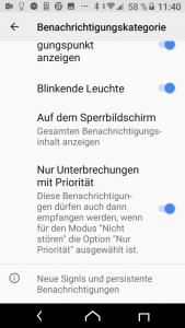 Android Nur wichtige Unterbrechungen