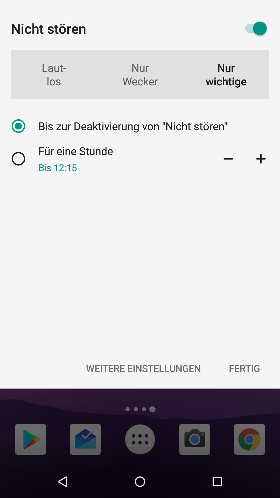 Nicht Stören Android