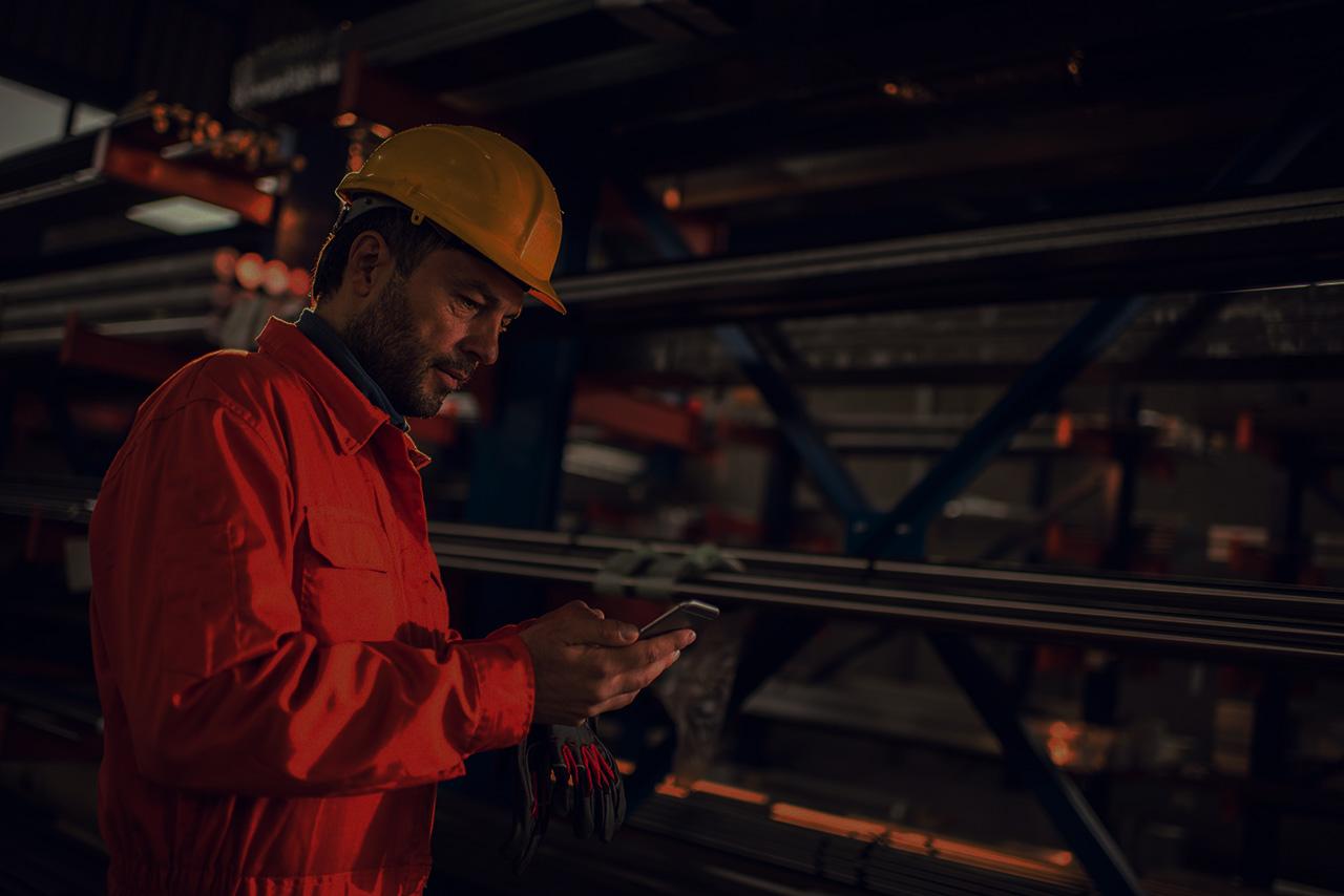 Arbeiter Produktion und Wartung