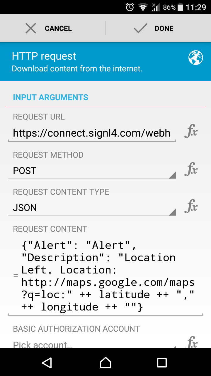 SIGNL4 | Geofencing Alerts with Automate or Tasker