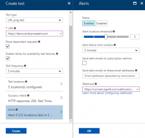 Azure Application Insights - SIGNL4 webhook for mobile alert notifications