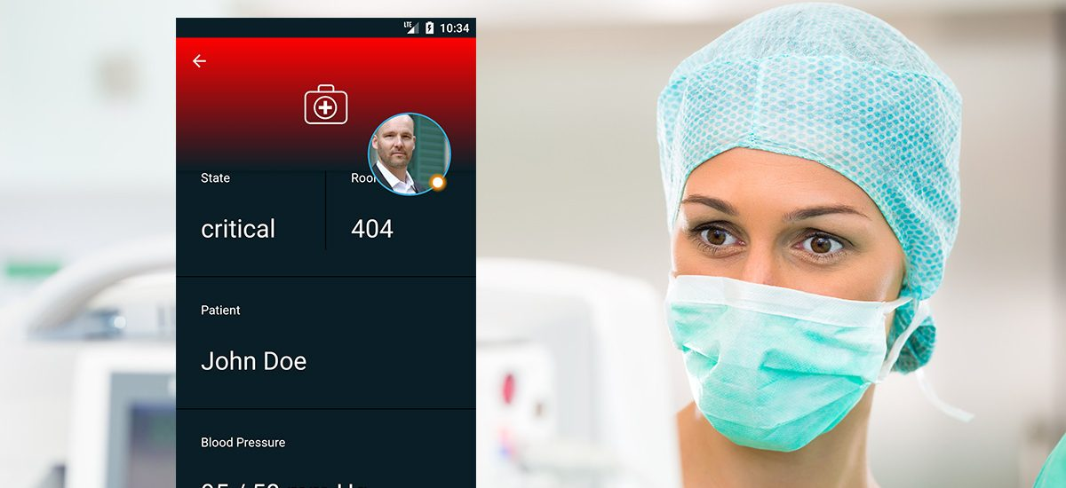 Emergency Notifications for Patient Bedside Monitoring using mobile Apps