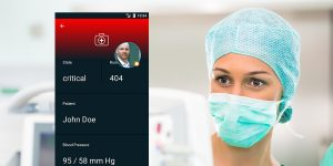 healthcare bedside monitoring alert mobile app