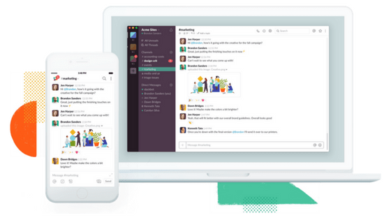 Mobile and Web Slack Interfaces