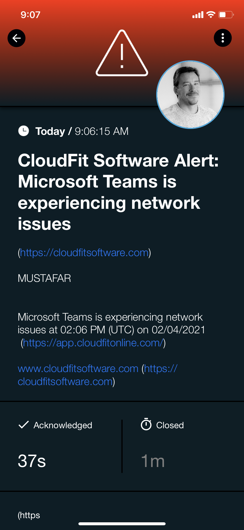 CloudFitS4alert